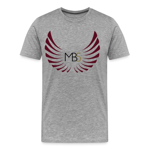 MB5 Logo T-Shirt Grey - Men's Premium T-Shirt
