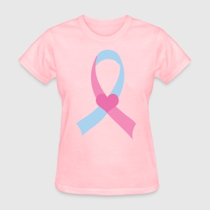 Pregnancy and Infant Loss Pink Blue Ribbon Women's T-Shirts - Women's T-Shirt