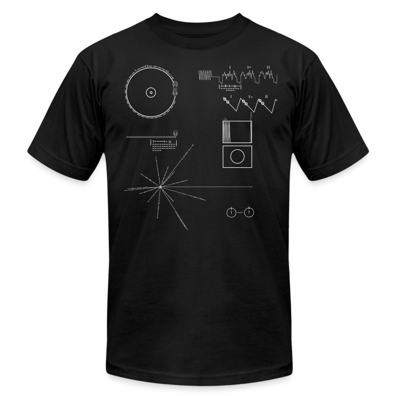 Voyager Golden Record (Carl Sagan) - Men's T-Shirt by American Apparel