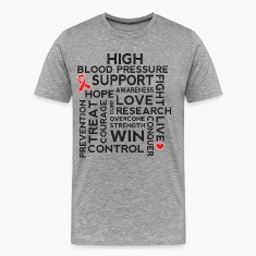 High Blood Pressure Awareness Support T-Shirts