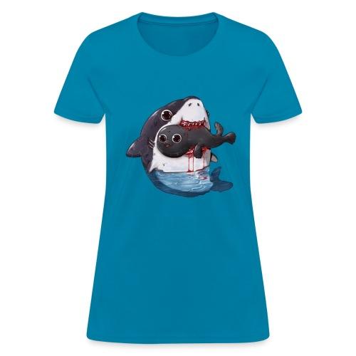 Shark Eating Sea Lion - Women's T-Shirt