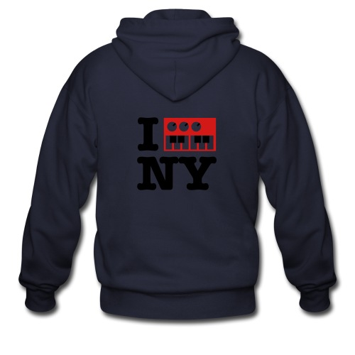 I Synth NY - Men's Zip Hoodie