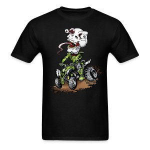 ATV Crazy Skully Kawasaki - Men's T-Shirt