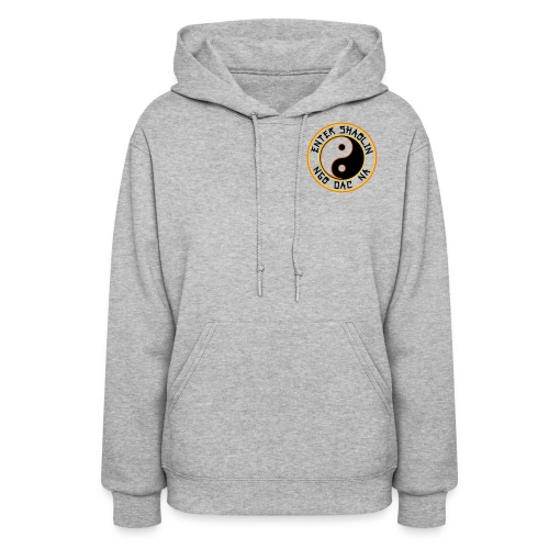 Enter Shaolin Women's Lightweight Pullover Hoodie Heather Gray (Black Lettering) - Women's Hoodie