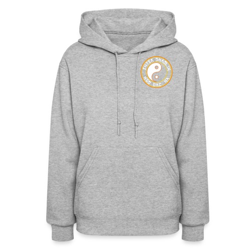 Enter Shaolin Women's Lightweight Pullover Hoodie Heather Gray (White Lettering) - Women's Hoodie