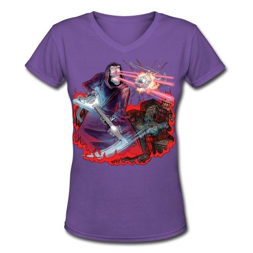 Shredding Death - Women's V-Neck T-Shirt