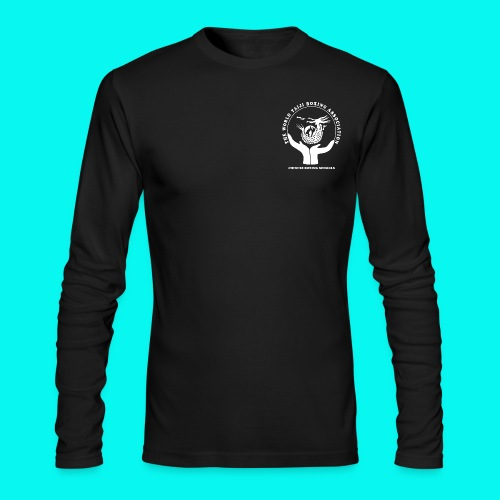 Men's Long Sleeve T-Shirt with white logos front and back (choice of colours) - Men's Long Sleeve T-Shirt by Next Level
