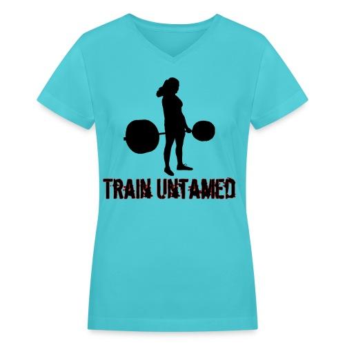 Women's Train Untamed V-Neck - Women's V-Neck T-Shirt