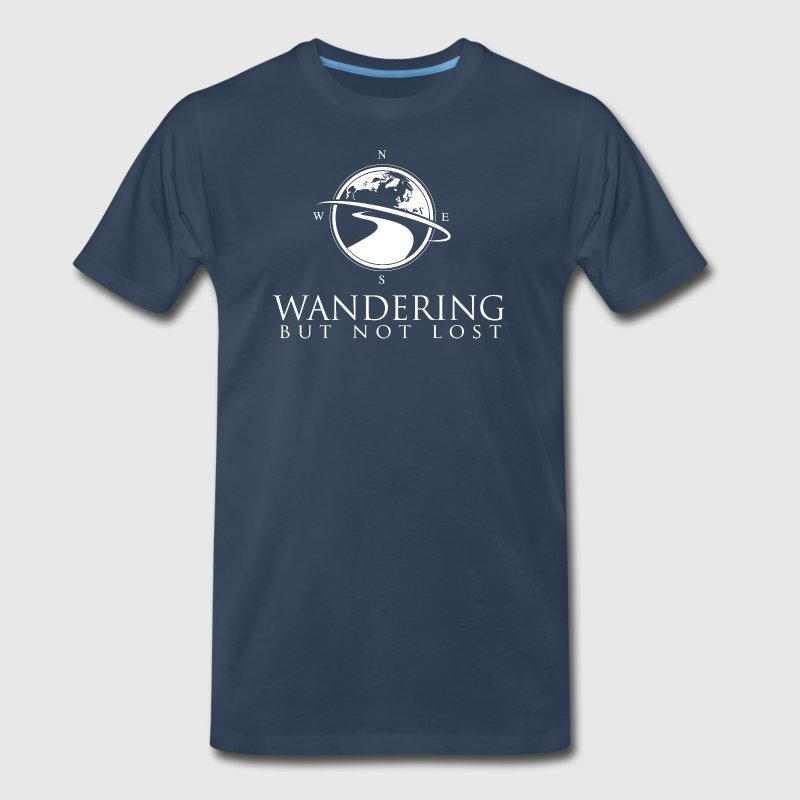 Wandering But Not Lost Logo T Front & Back - Men's Premium T-Shirt