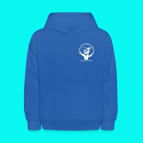 Kids' Hoodie with white logos front and back (choice of colours) - Kids' Hoodie