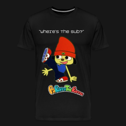 Parappa The Rapper Where's The Sub? T-Shirt - Men's Premium T-Shirt