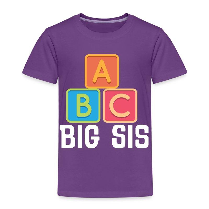 Big sis a b c cute sister announcement t shirt spreadshirt for Big sister birth announcement shirts