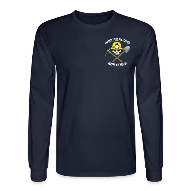 Underground Explorers Navy Blue Long Sleeve Logo Tee
