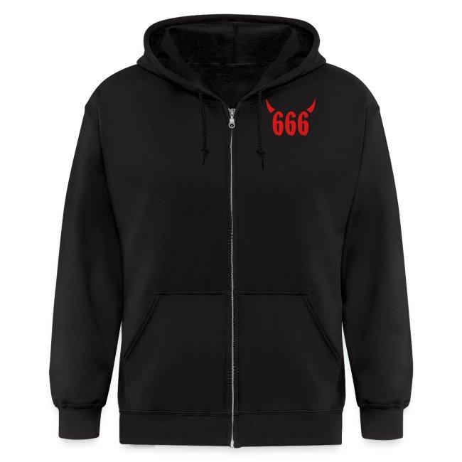 666 zip up hoodie
