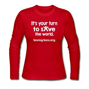 Your Turn to Save the World - Women's Long Sleeve Jersey T-Shirt