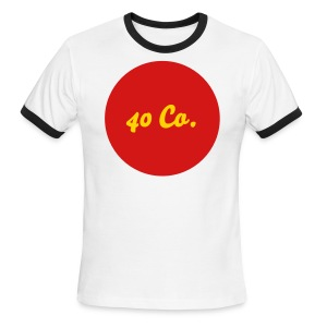 40 Co. Shirt [Blue, Gold, Red] - Men's Ringer T-Shirt
