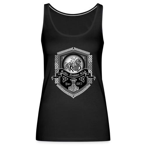 Odin on Sleipnir Banner - Women's Premium Tank Top