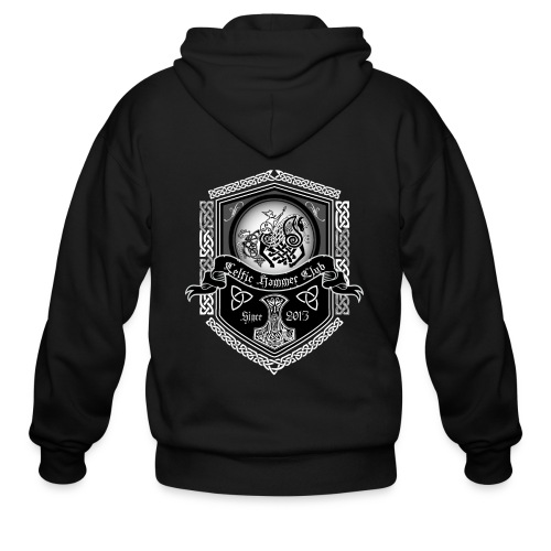 Odin on Sleipnir Banner - Men's Zip Hoodie