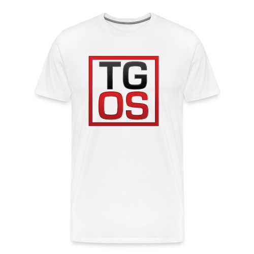 Men's White TGOS Tee - Men's Premium T-Shirt
