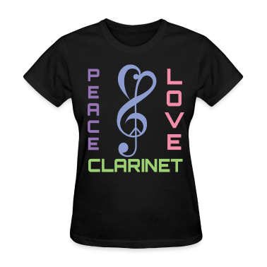 Peace Love Clarinet Music Band Gift T Shirt Spreadshirt
