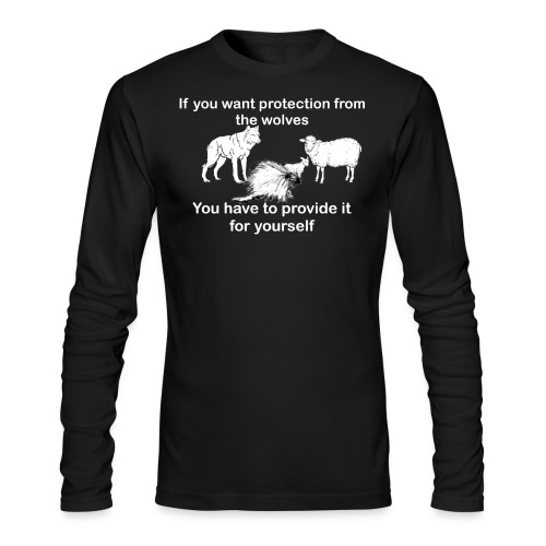 Porcupine long sleeve dark colors - Men's Long Sleeve T-Shirt by Next Level