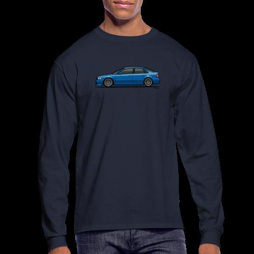 Audi A4 Quattro B5 Sedan (Nogaro Blue) - Men's Long Sleeve T-Shirt