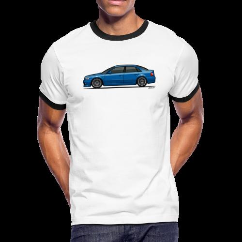 Audi A4 Quattro B5 Sedan (Nogaro Blue) - Men's Ringer T-Shirt