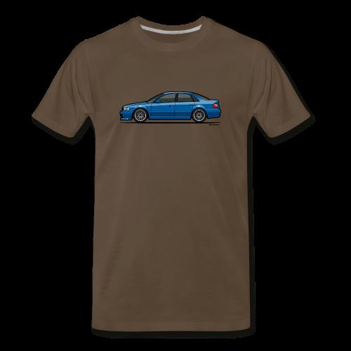Audi A4 Quattro B5 Sedan (Nogaro Blue) - Men's Premium T-Shirt