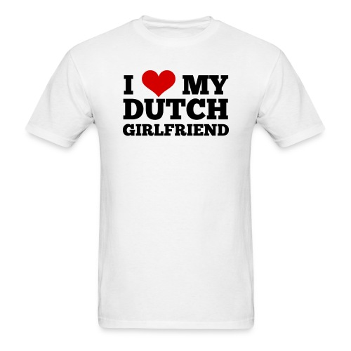 I love my Dutch gf (for men, front) - Men's T-Shirt
