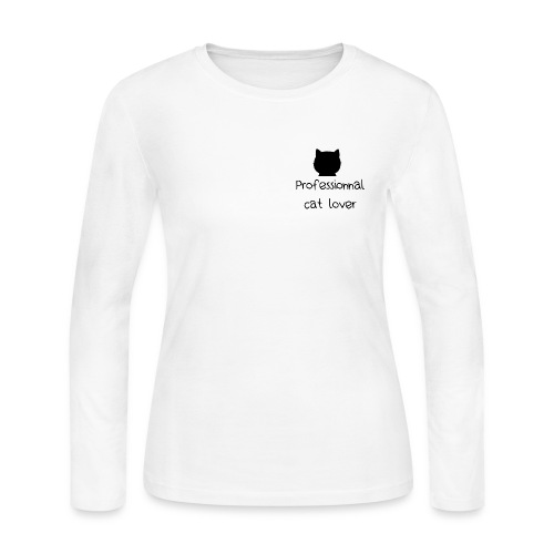 Chandail Professionnal cat lover - Women's Long Sleeve Jersey T-Shirt