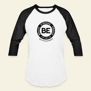 Men - BE baseball t - large round - Baseball T-Shirt