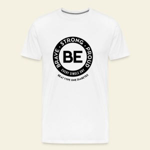 Men - BE shirt - large round - Men's Premium T-Shirt