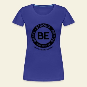 Women - BE shirt - large round blue - Women's Premium T-Shirt