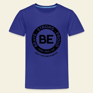 Kid - BE shirt - large round blue - Kids' Premium T-Shirt