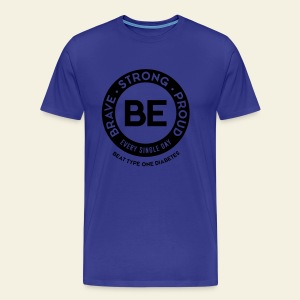 Men - BE shirt - large round blue - Men's Premium T-Shirt