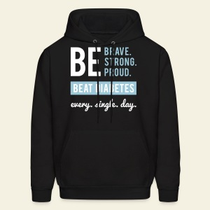 Men - BE sweatshirt - original black/light blue - Men's Hoodie
