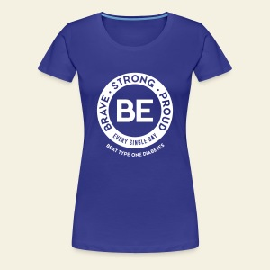 Women - BE shirt - large white round - Women's Premium T-Shirt