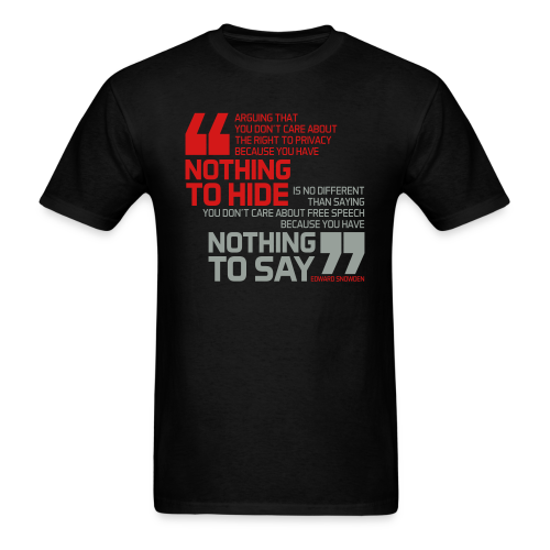 Nothing to hide - Nothing to say - Men's T-Shirt