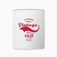 Premium Quality Vintage Since 1958 Limited Edition Mugs & Drinkware