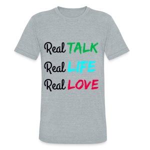 Unisex Tri-Blend REAL Tee - Unisex Tri-Blend T-Shirt