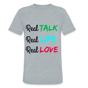 Unisex Tri-Blend REAL Tee - Unisex Tri-Blend T-Shirt by American Apparel