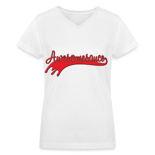 Awesomesauce Women's V-Neck Tee - Women's V-Neck T-Shirt