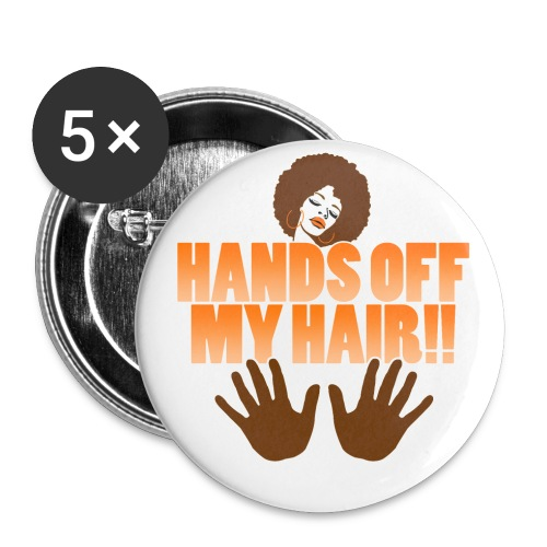 hands off my hair button - Small Buttons