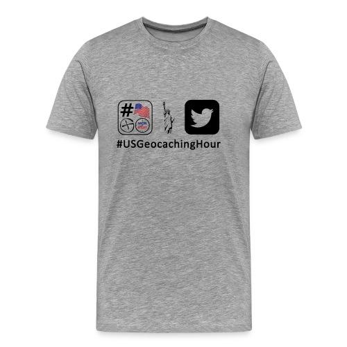 USGeocachingHour Premium T-Shirt - Men's Premium T-Shirt