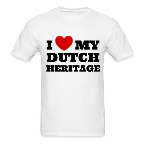 I love my Dutch heritage (for men, front) - Men's T-Shirt