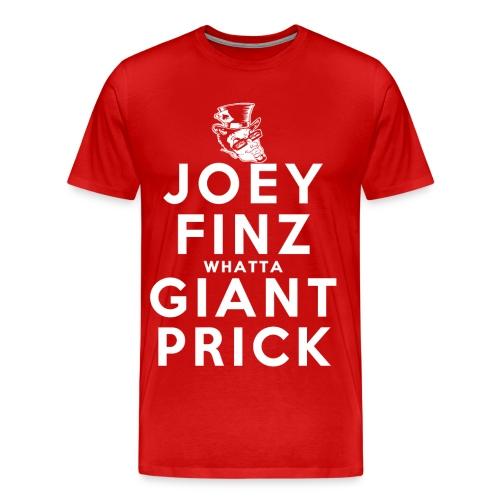 Joey Finz Giant Prick Big Man - Men's Premium T-Shirt