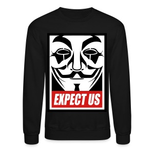 Anonymous long shirt - Crewneck Sweatshirt