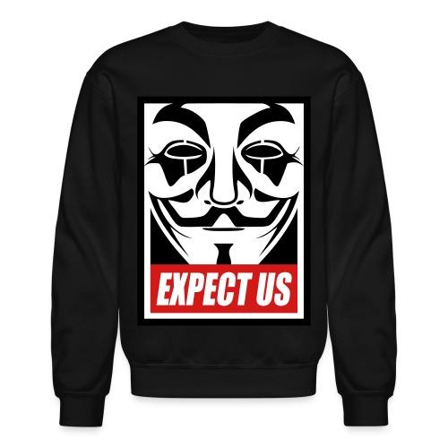 Anonymous long shirt - Crewneck Sweatshirt