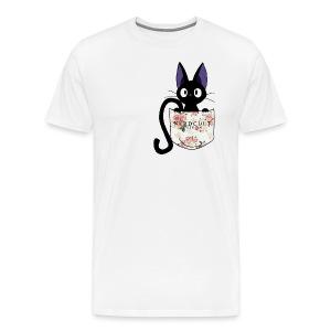 Pocket Jiji - Kiki's Delivery Service (White) - Men's Premium T-Shirt