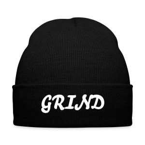 I Grind - Knit Cap with Cuff Print